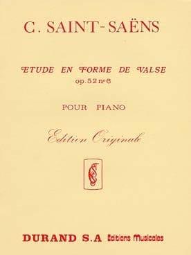 Camille Saint-Saëns - Etude En Forme de Valse Opus 52-6 - Partition - di-arezzo.fr