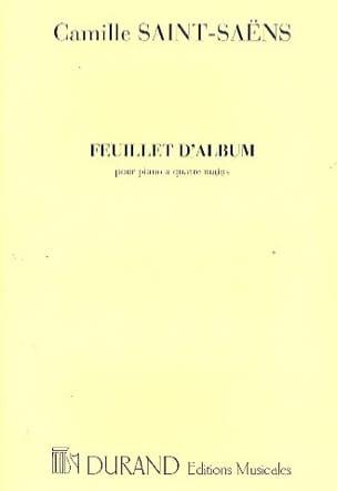 Camille Saint-Saëns - Album Sheet Op. 81. 4 Hands. - Sheet Music - di-arezzo.co.uk