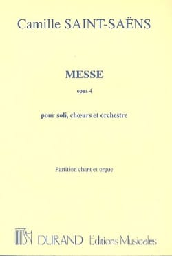 Camille Saint-Saëns - Messe Opus 4 - Partition - di-arezzo.fr