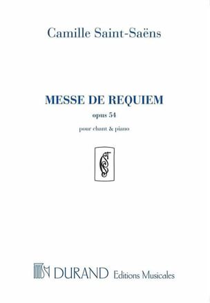 Camille Saint-Saëns - Mass of Requiem - Opus 54 - Sheet Music - di-arezzo.co.uk