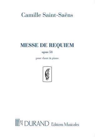 Camille Saint-Saëns - Messe de Requiem - Opus 54 - Partition - di-arezzo.fr