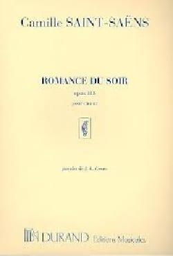 Camille Saint-Saëns - Romance Du Soir Opus 118 Choeur - Partition - di-arezzo.fr