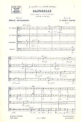 Camille Saint-Saëns - Saltarelle Opus 74 - Sheet Music - di-arezzo.com