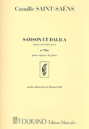 Camille Saint-Saëns - My heart opens to your voice. Samson and Dalila. - Sheet Music - di-arezzo.co.uk