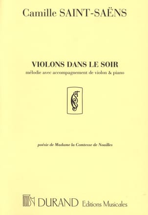 Camille Saint-Saëns - Violins In The Evening - Sheet Music - di-arezzo.co.uk