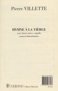 Pierre Villette - Hymn To the Virgin. - Sheet Music - di-arezzo.com