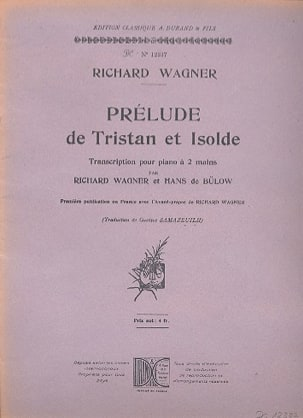 Richard Wagner - Prelude of Tristan and Isolde. Piano - Sheet Music - di-arezzo.co.uk