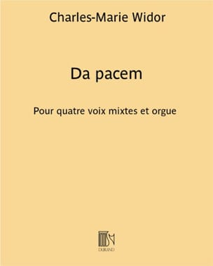 Charles-Marie Widor - Da Pacem - Sheet Music - di-arezzo.co.uk