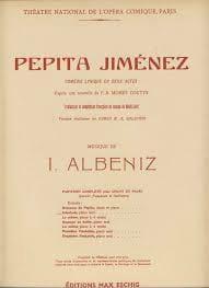 Isaac Albeniz - Romance de Pepita. Pepita Jimenez - Partition - di-arezzo.fr