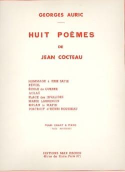 Georges Auric - 8 Poèmes de Cocteau - Partition - di-arezzo.fr