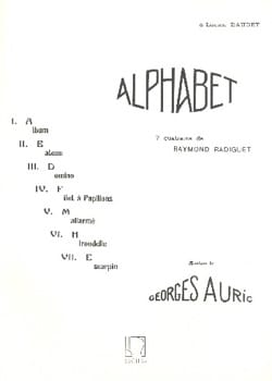 Alphabet - Georges Auric - Partition - Mélodies - laflutedepan.com