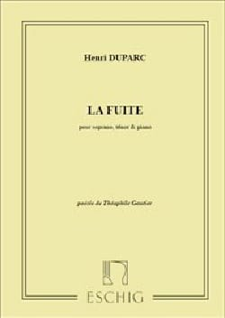 Henri Duparc - La Fuite - Partition - di-arezzo.fr