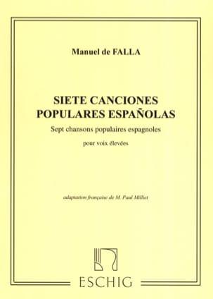 DE FALLA - 7 Canciones Populares Espanolas. Voix Haute - Partition - di-arezzo.fr