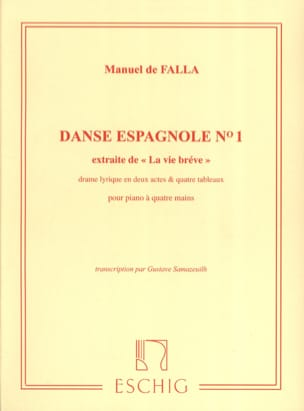 DE FALLA - Spanish Dance N ° 1. 4 Hands - Sheet Music - di-arezzo.com
