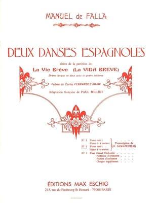 Danse Espagnole N° 2 - Manuel de Falla - Partition - laflutedepan.com