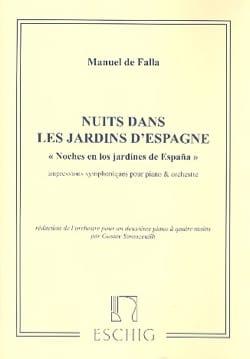 Manuel de Falla - Nuits Dans les Jardins D'Espagne. 2 Pianos - Partition - di-arezzo.fr