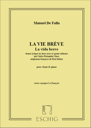 DE FALLA - The Brief Life. - Sheet Music - di-arezzo.com
