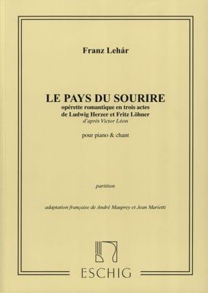 Franz Lehar - Le Pays Du Sourire - Partition - di-arezzo.fr