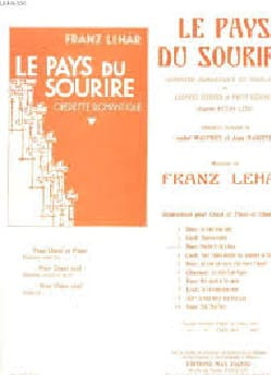 Franz Lehar - Who In Our Hearts .... The Land Of Smiles N ° 5 - Sheet Music - di-arezzo.com
