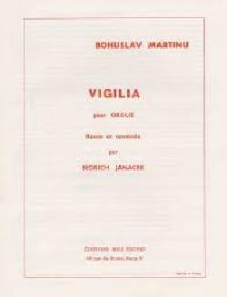 Bohuslav Martinu - Vigilia. Organ - Sheet Music - di-arezzo.co.uk