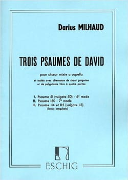 Darius Milhaud - 3 Psalms of David - Partition - di-arezzo.co.uk