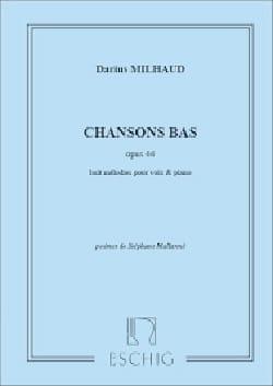 Darius Milhaud - Chansons Bas Op. 44 - Partition - di-arezzo.fr