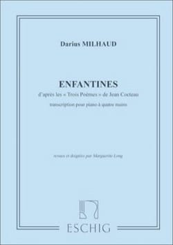 Enfantines. 4 Mains MILHAUD Partition Piano - laflutedepan