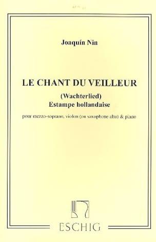 Joaquin Nin-Culmell - Chant Du Veilleur. - Partition - di-arezzo.fr