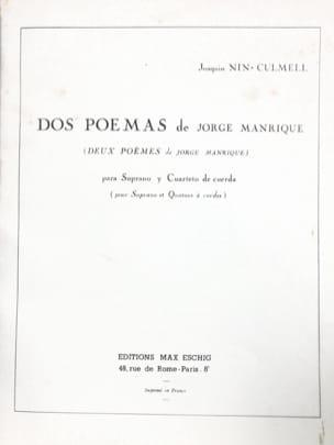 Joaquin Nin-Culmell - 2 Poems by Manrique - Sheet Music - di-arezzo.com