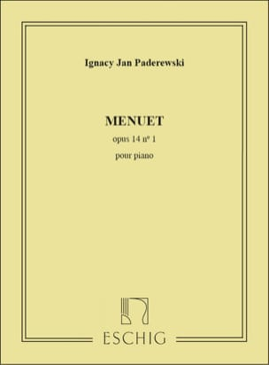 Menuet Opus 14-1 - Ignacy Paderewski - Partition - laflutedepan.com