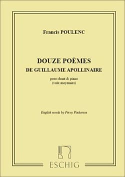 Francis Poulenc - 12 Poèmes - Partition - di-arezzo.fr