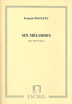 6 Mélodies POULENC Partition Mélodies - laflutedepan