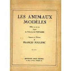 Francis Poulenc - Les Animaux Modèles - Partition - di-arezzo.fr