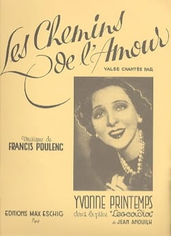 Francis Poulenc - The paths of love. Driver and Hardware - Sheet Music - di-arezzo.com