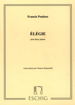 Francis Poulenc - Elegance - 2 Pianos - Sheet Music - di-arezzo.co.uk