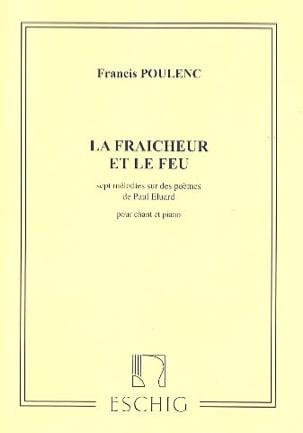 La Fraicheur et le Feu POULENC Partition Mélodies - laflutedepan