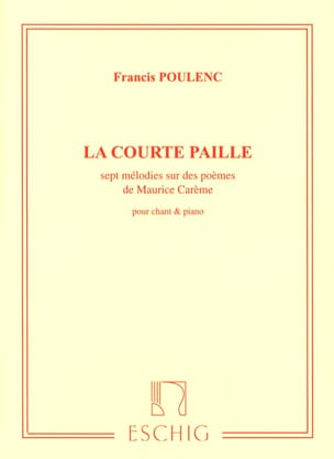 Francis Poulenc - The Short Straw - Sheet Music - di-arezzo.com