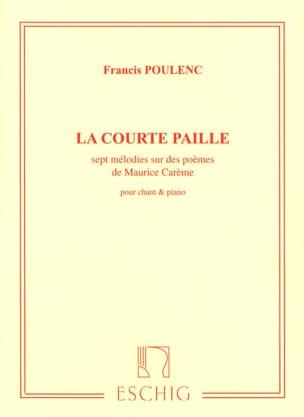 La Courte Paille POULENC Partition Mélodies - laflutedepan