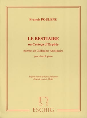 Francis Poulenc - The Bestiary - Sheet Music - di-arezzo.co.uk