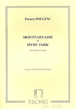 Francis Poulenc - Montparnasse / Hyde Park. - Sheet Music - di-arezzo.co.uk