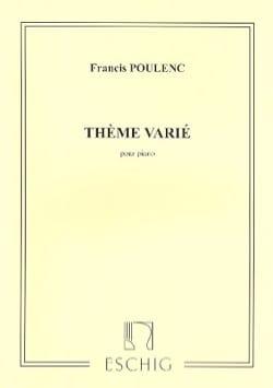 Thème Varié - POULENC - Partition - Piano - laflutedepan.com