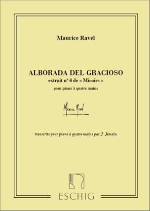 Maurice Ravel - Alborada Del Gracioso. 4 Mains - Partition - di-arezzo.fr