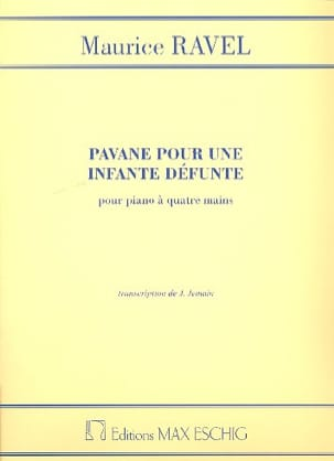 Maurice Ravel - Pavane For a Defunct Infante. 4 hands - Sheet Music - di-arezzo.co.uk