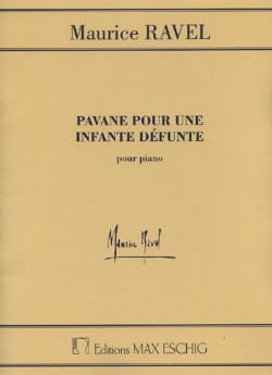 Maurice Ravel - Pavane for a dead Infante - Partition - di-arezzo.com