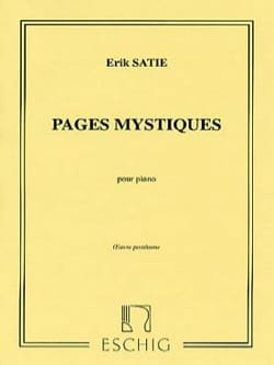 Pages Mystiques SATIE Partition Piano - laflutedepan