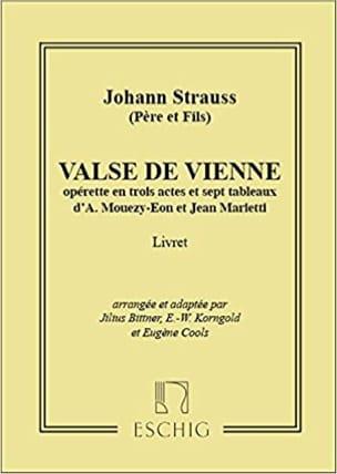 J (Père et Fils) Strauss - Valses de Vienne - Partition - di-arezzo.fr