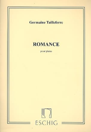 Romance Germaine Tailleferre Partition Piano - laflutedepan