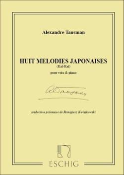 8 Mélodies Japonaises - Alexandre Tansman - laflutedepan.com