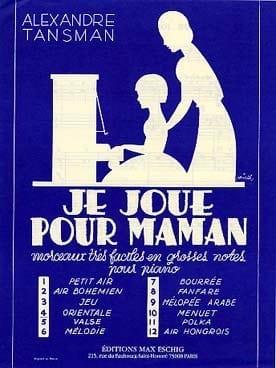 Alexandre Tansman - Je Joue Pour Maman N° 4 Orientale Piano - Partition - di-arezzo.fr
