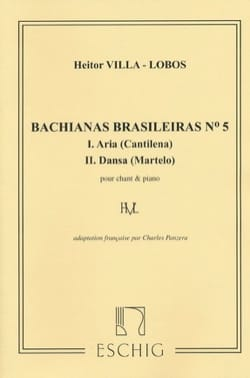 Heitor Villa-Lobos - Bachianas Brasileiras N° 5 - Partition - di-arezzo.fr